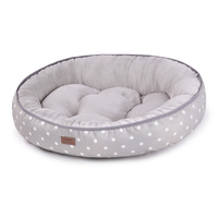 Bed Cushion Funky Polka Grey Lge 79x53cm