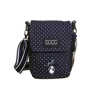 Doog Walkie Shoulder Bag Navy and White Dots