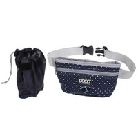 Doog Treat Pouch Navy & White Dot Large