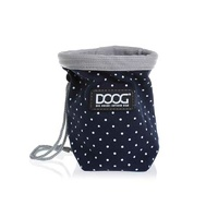 Doog Treat Pouch Navy & White Dot Small