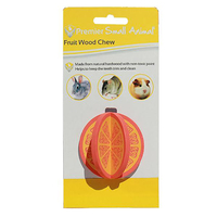 Fruit Wood Chew Orange 6cm