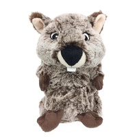Dog Toy Furry Face Furbabies Wombat 20cm
