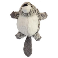 Dog Toy Furry Face Furbabies Beaver 25cm