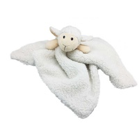 Furry Face Comfort Blankie Lamb