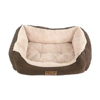 Dozer Plush Basket Bed Brown