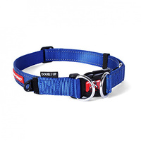 Ezy Dog Double-Up Collar Blue