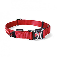 Ezy Dog Double-Up Collar Red