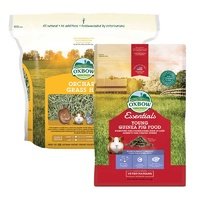 Oxbow Orchard Grass 4kg & Oxbow Guinea Pig Young 2.25kg Pack