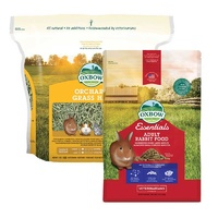 Oxbow Orchard Grass 4kg & Oxbow Rabbit Adult 2.25kg Pack