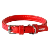 Rogz Collar Leather Red